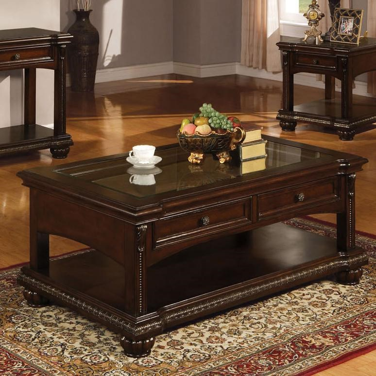anondale traditional coffee table