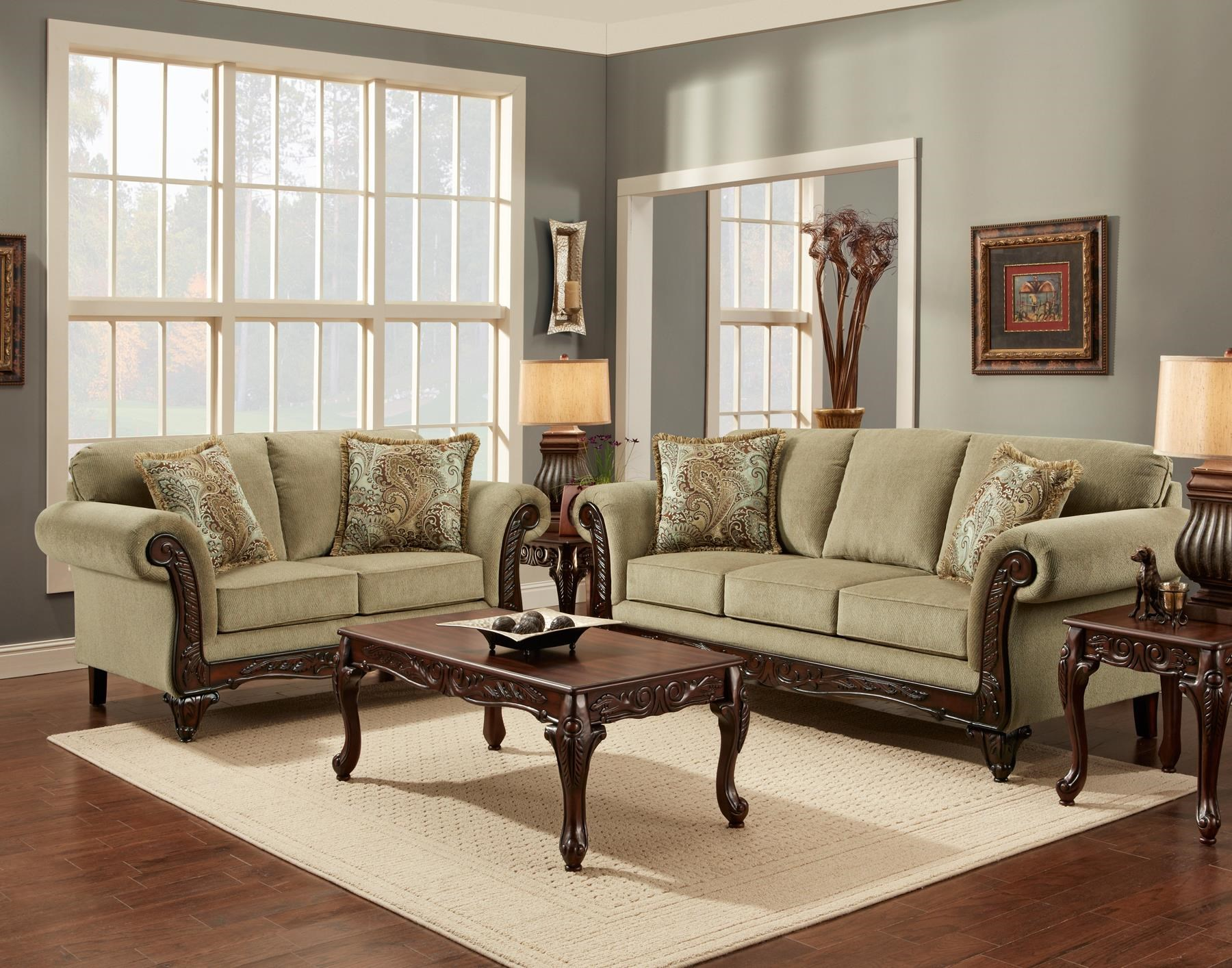 Affordable Furniture 8500 Traditional Sofa with Exposed Wood Rolled     Affordable Furniture 8500Traditional Sofa  Affordable Furniture  8500Traditional Sofa