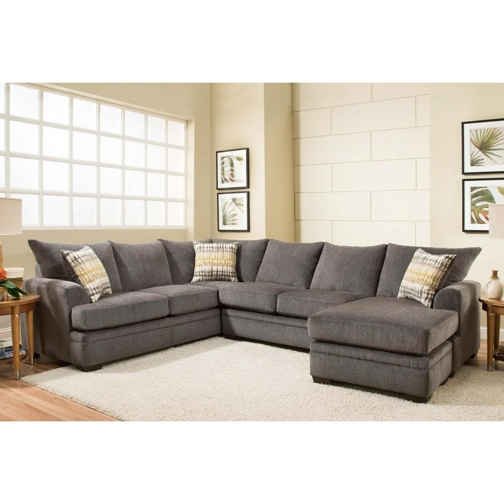 6800 sectional sofa with right side chaise