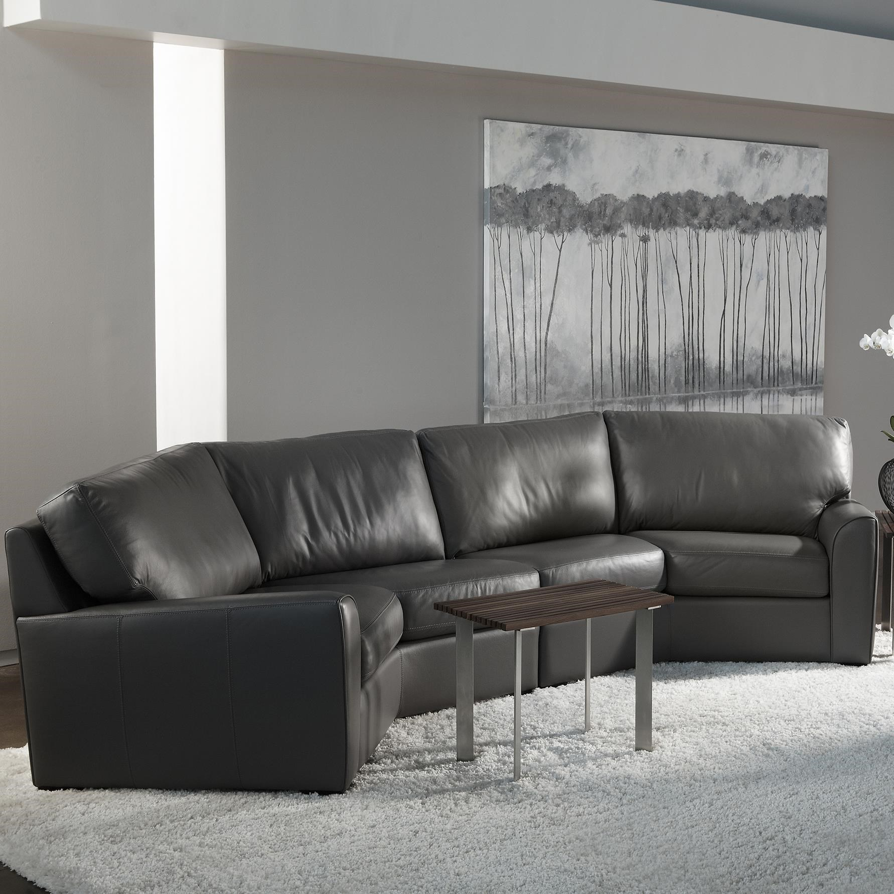 casual wedge sectional sofa