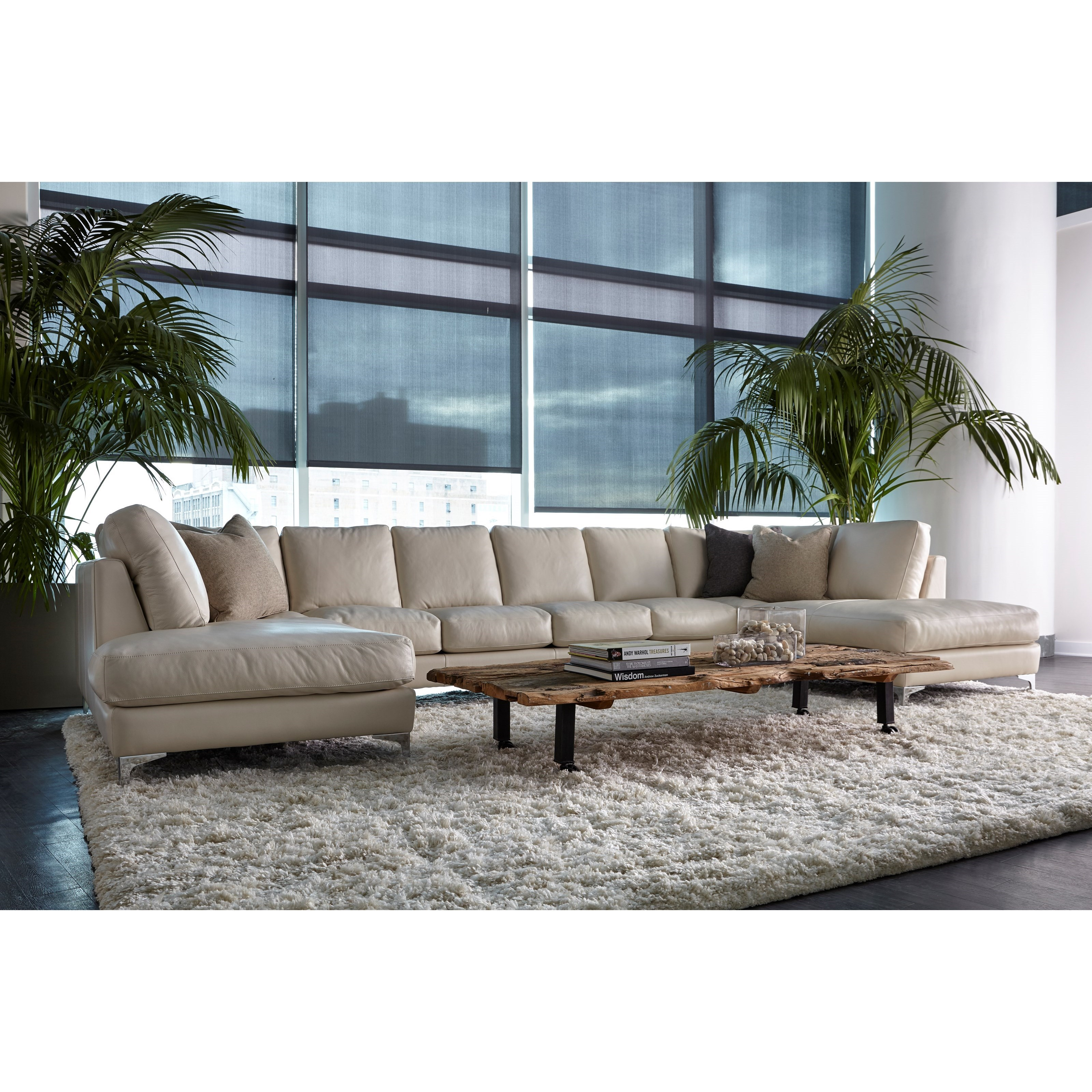 American Leather Kendall Contemporary 6 Seat U Shape