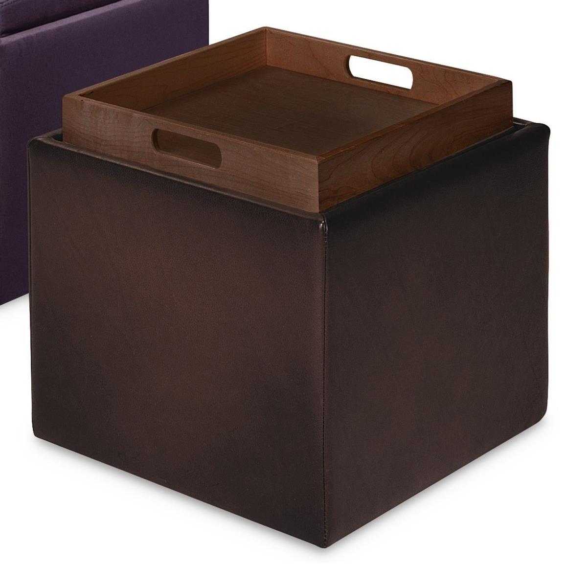 american leather uno square storage