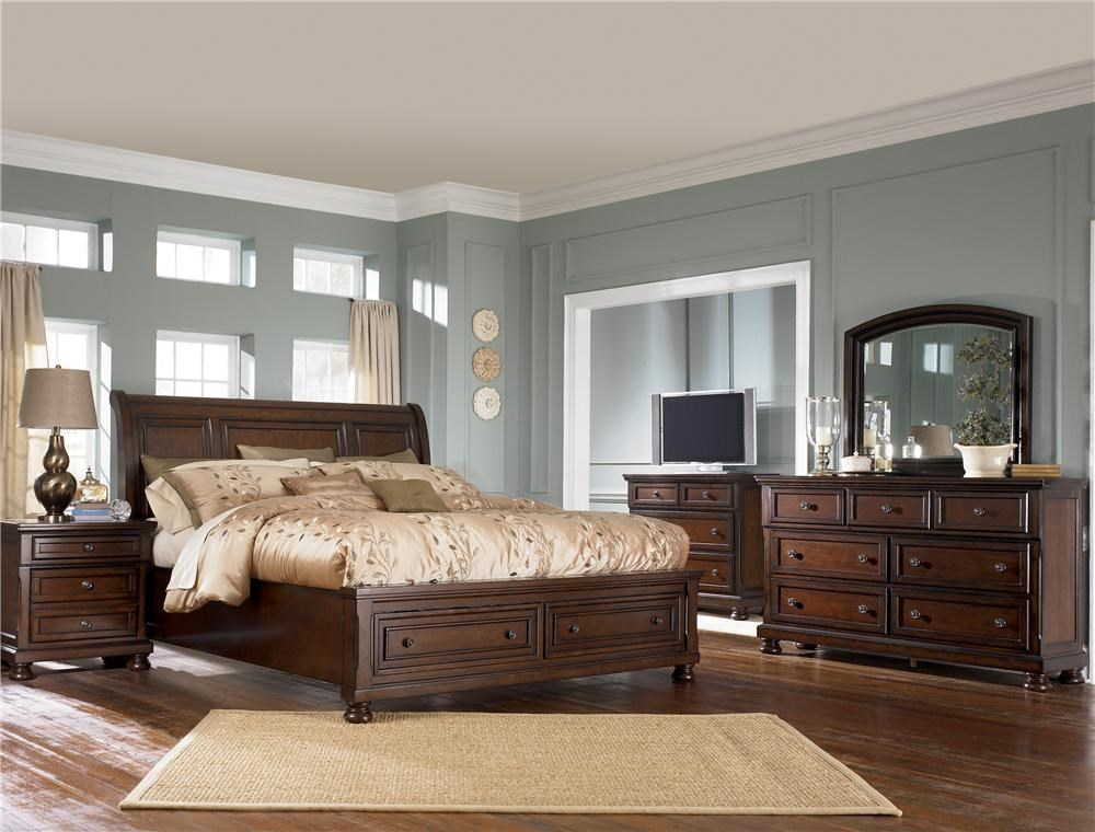 Ashley Furniture Porter King Storage Bed Queen Size 699 99 Wayside Furniture Sleigh Beds