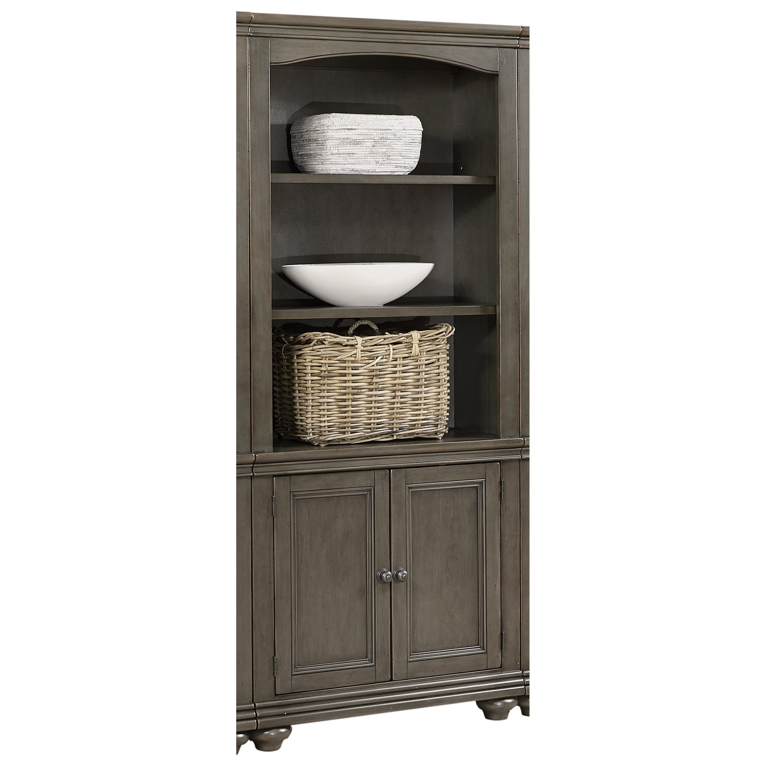 Aspenhome Oxford I07 332 Pep Door Bookcase With Adjustable Shelves