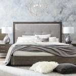Bassett Modern Astor And Rivoli Modern King Bed With Upholstered Headboard Wayside Furniture Platform Beds Low Profile Beds