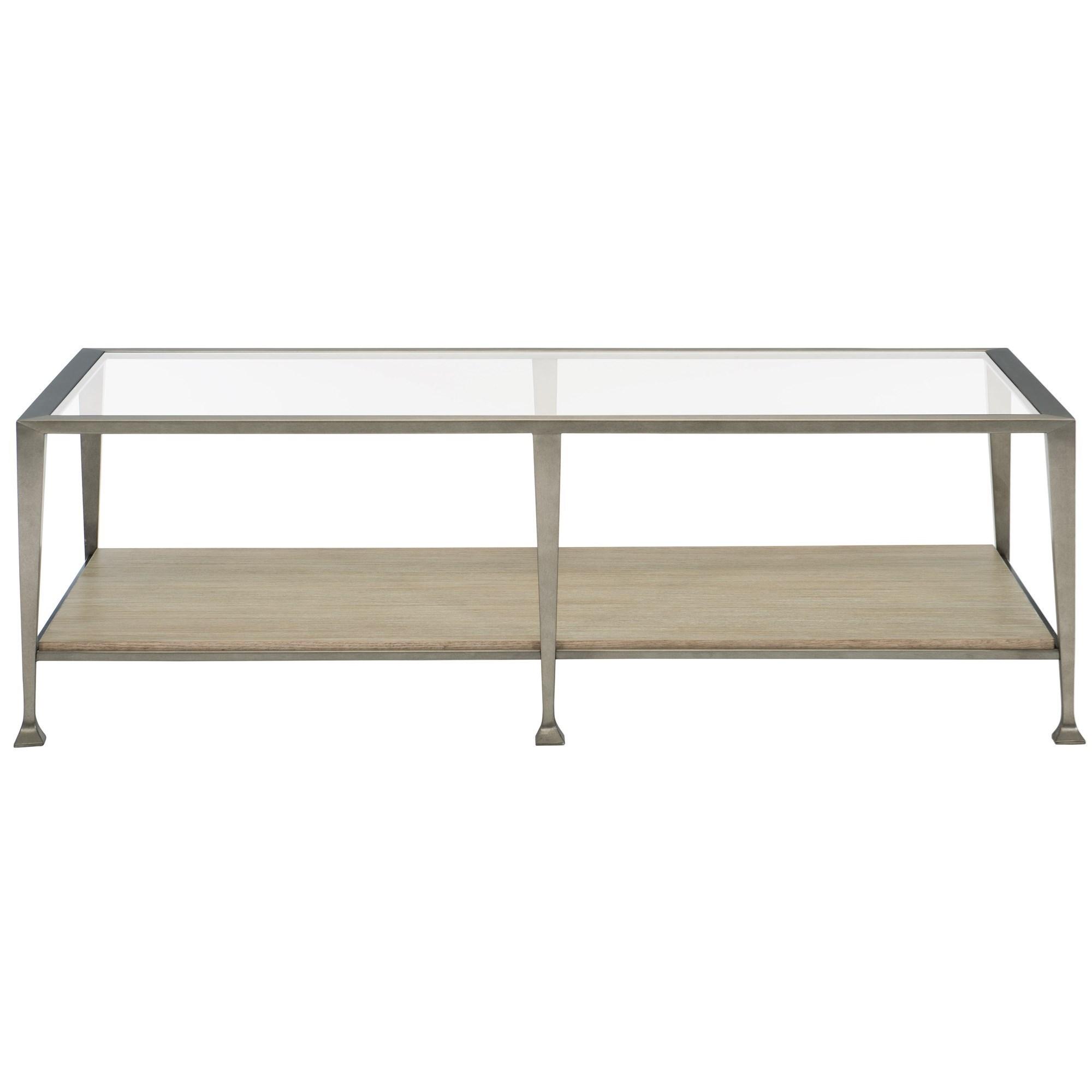 santa barbara rectangular metal cocktail table