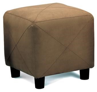 Coaster Ottomans Contemporary Microfiber Cube Ottoman