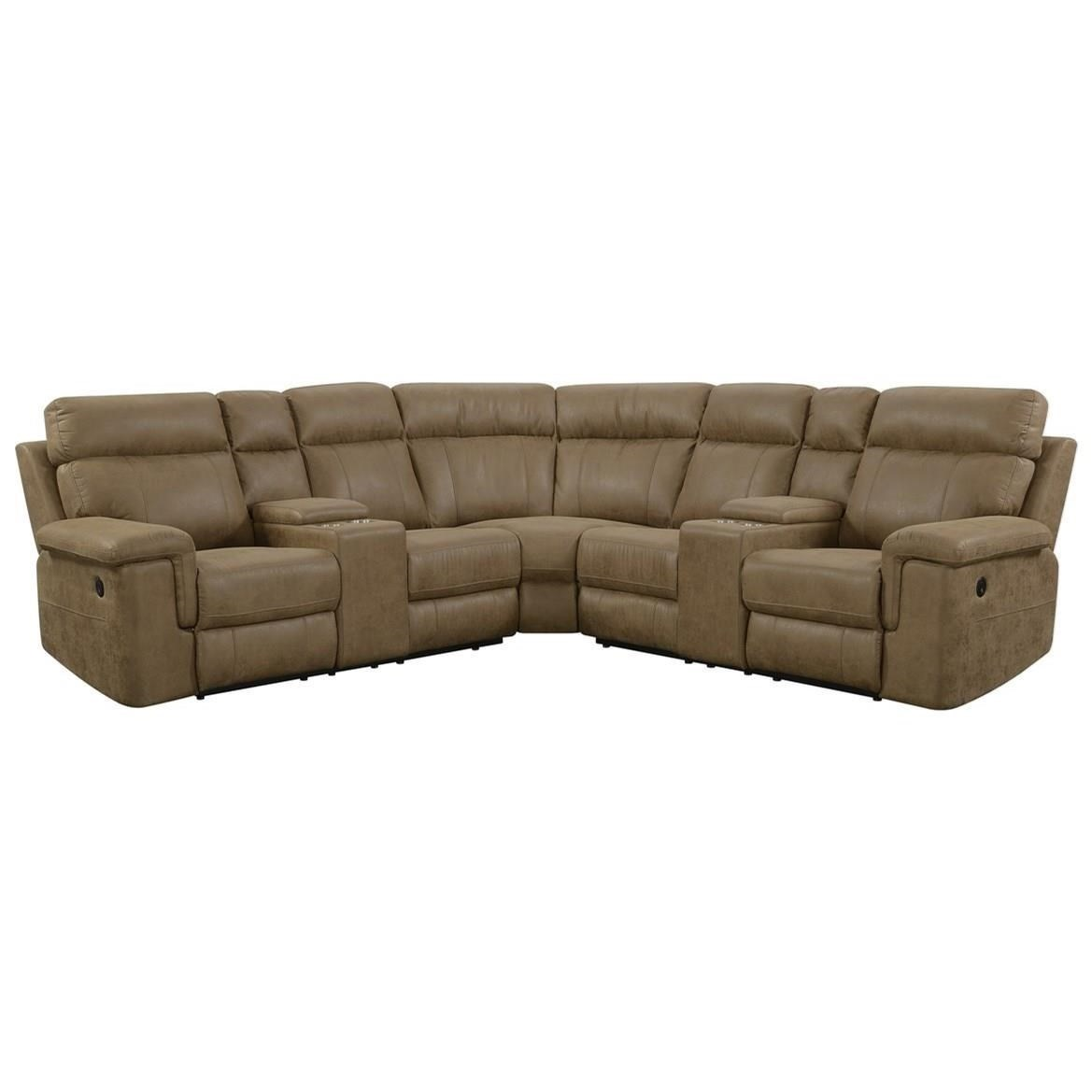 4 seat power reclining sectional sofa
