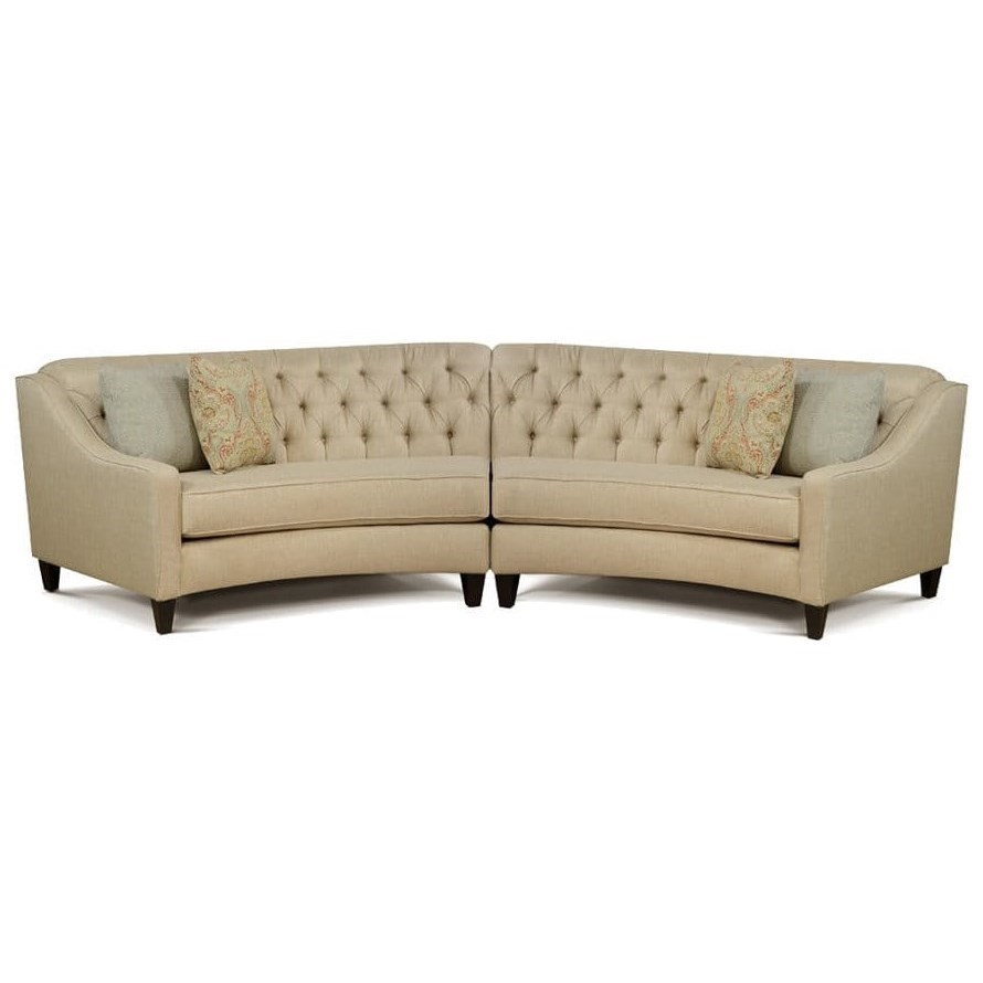 finneran 2 piece curved sectional sofa by england at fashion furniture