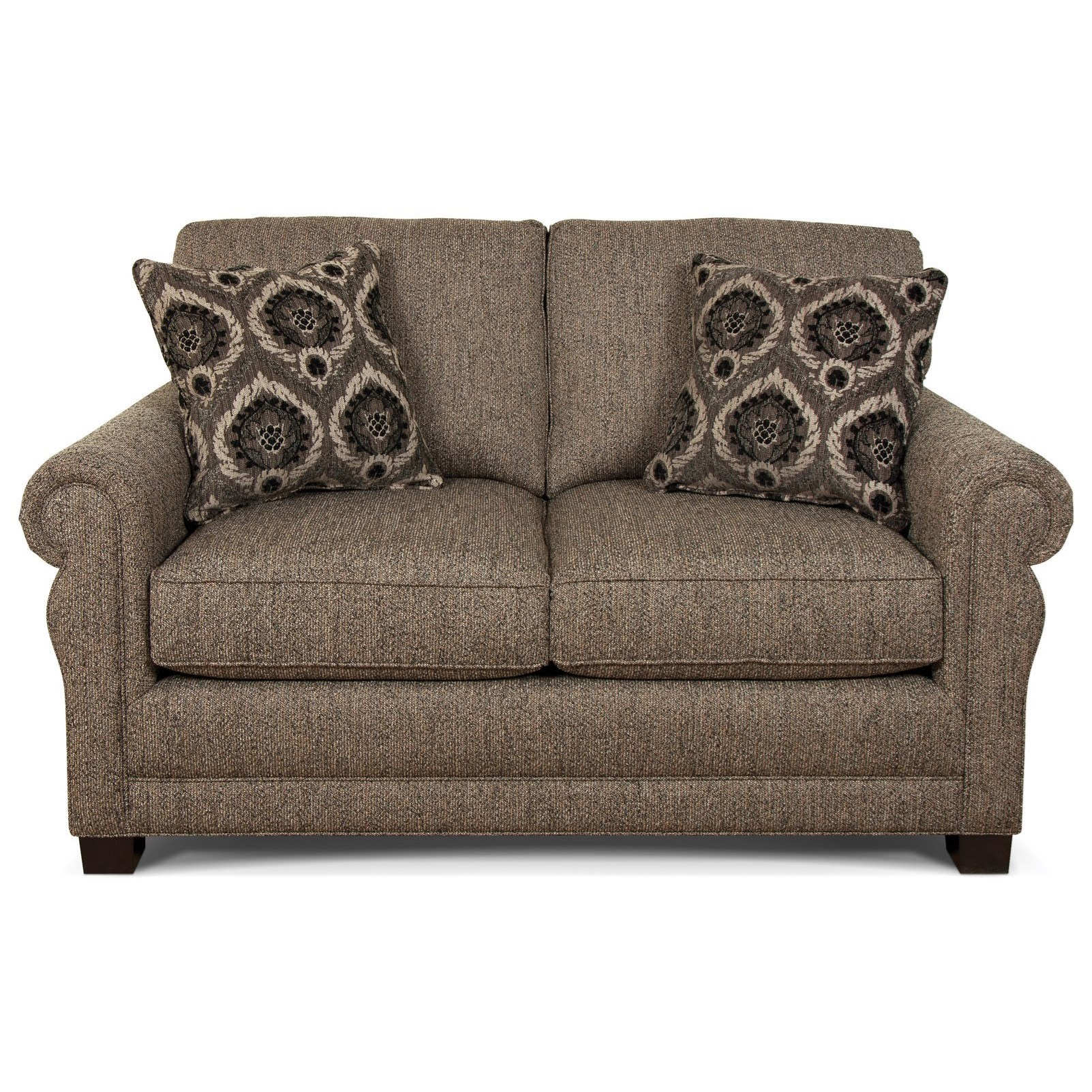 Green Two Cushion Loveseat With Traditional Style By England At Miller Home