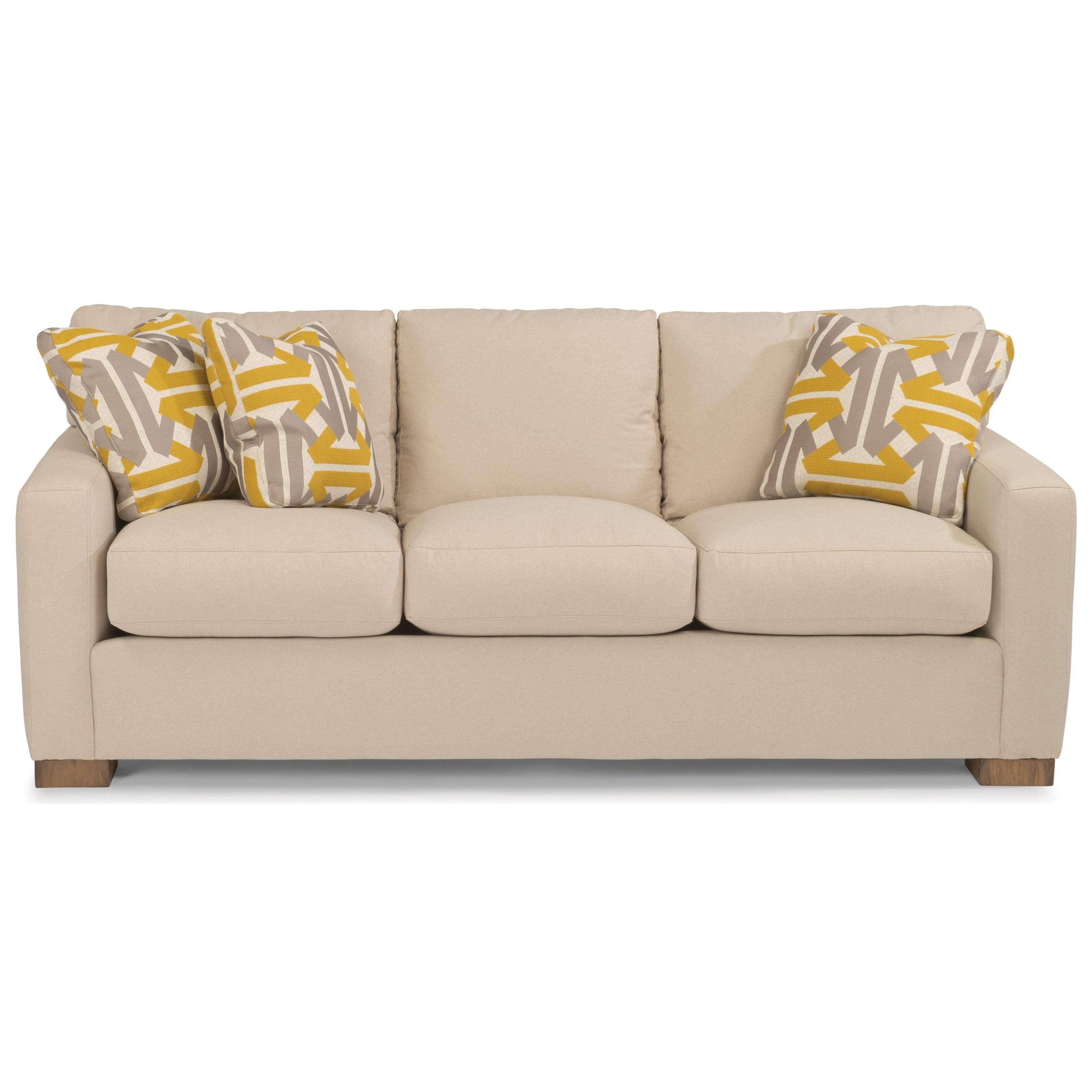 flexsteel bryant contemporary sofa with