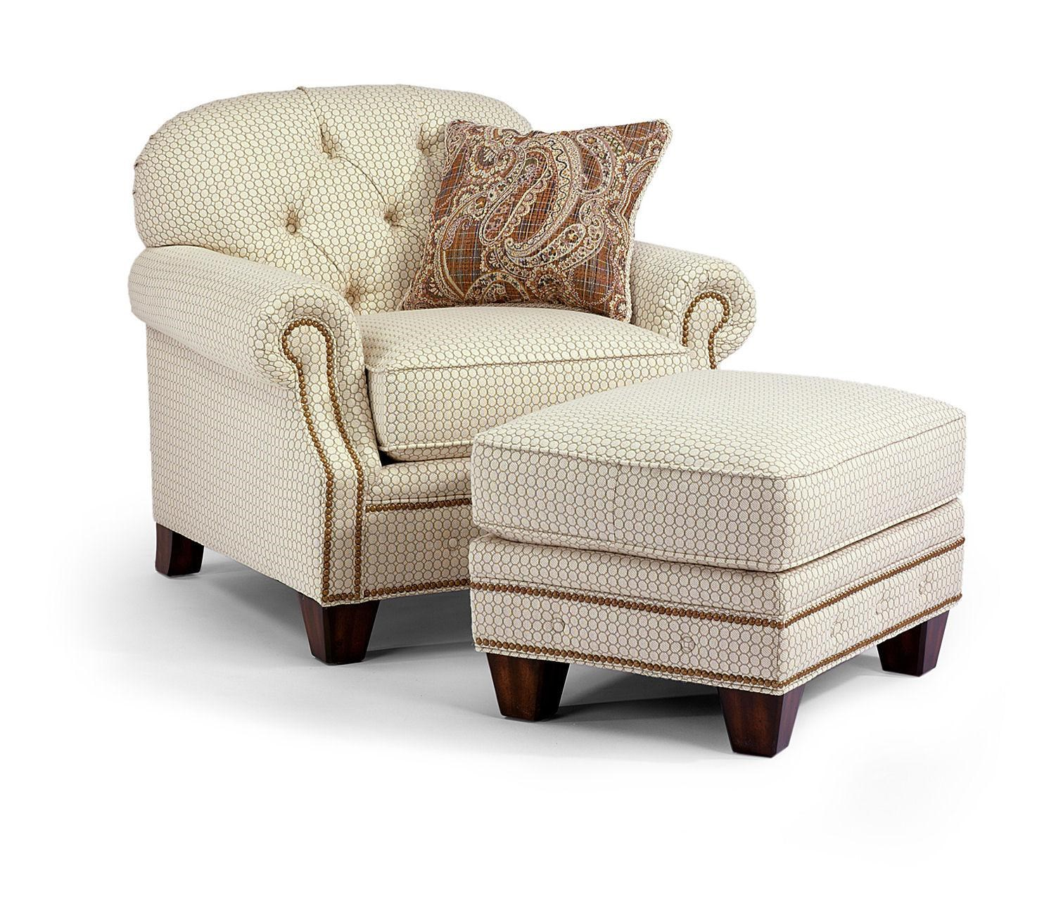 Flexsteel Champion Transitional Button Tufted Chair And