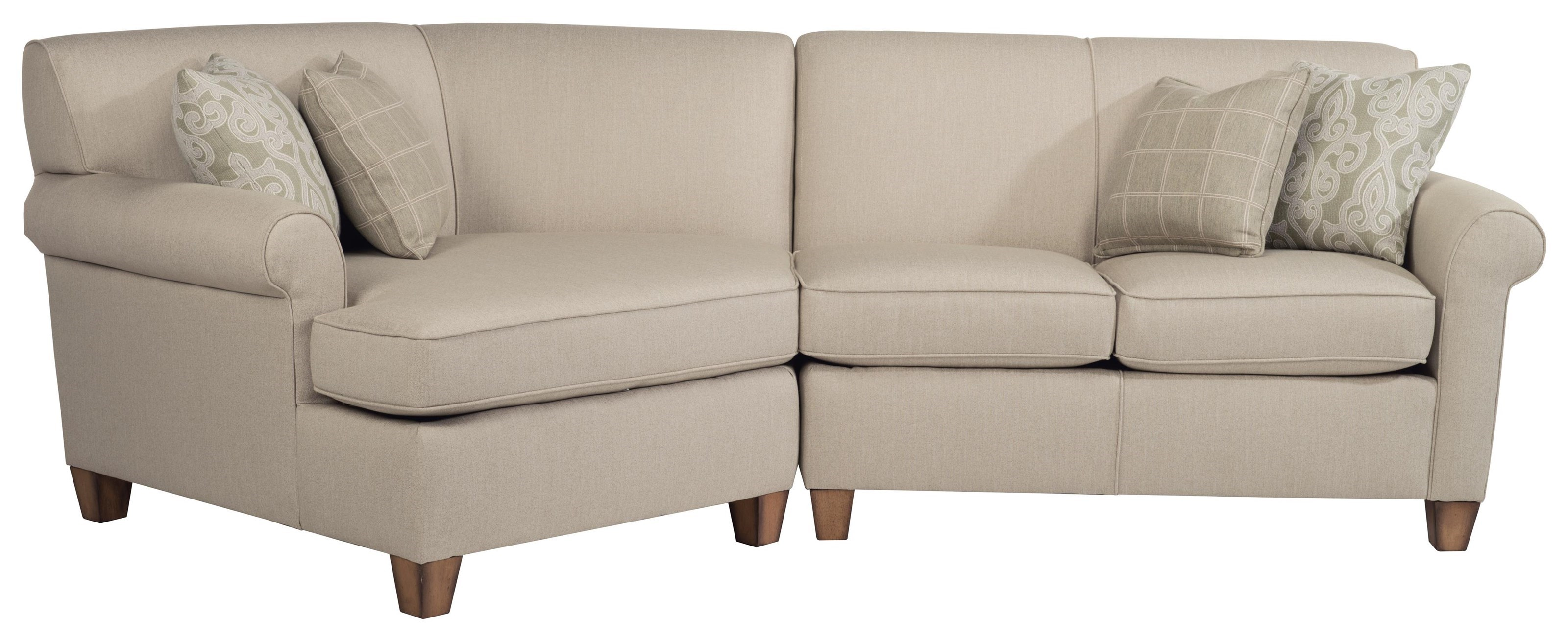 dana sectional with angled chaise