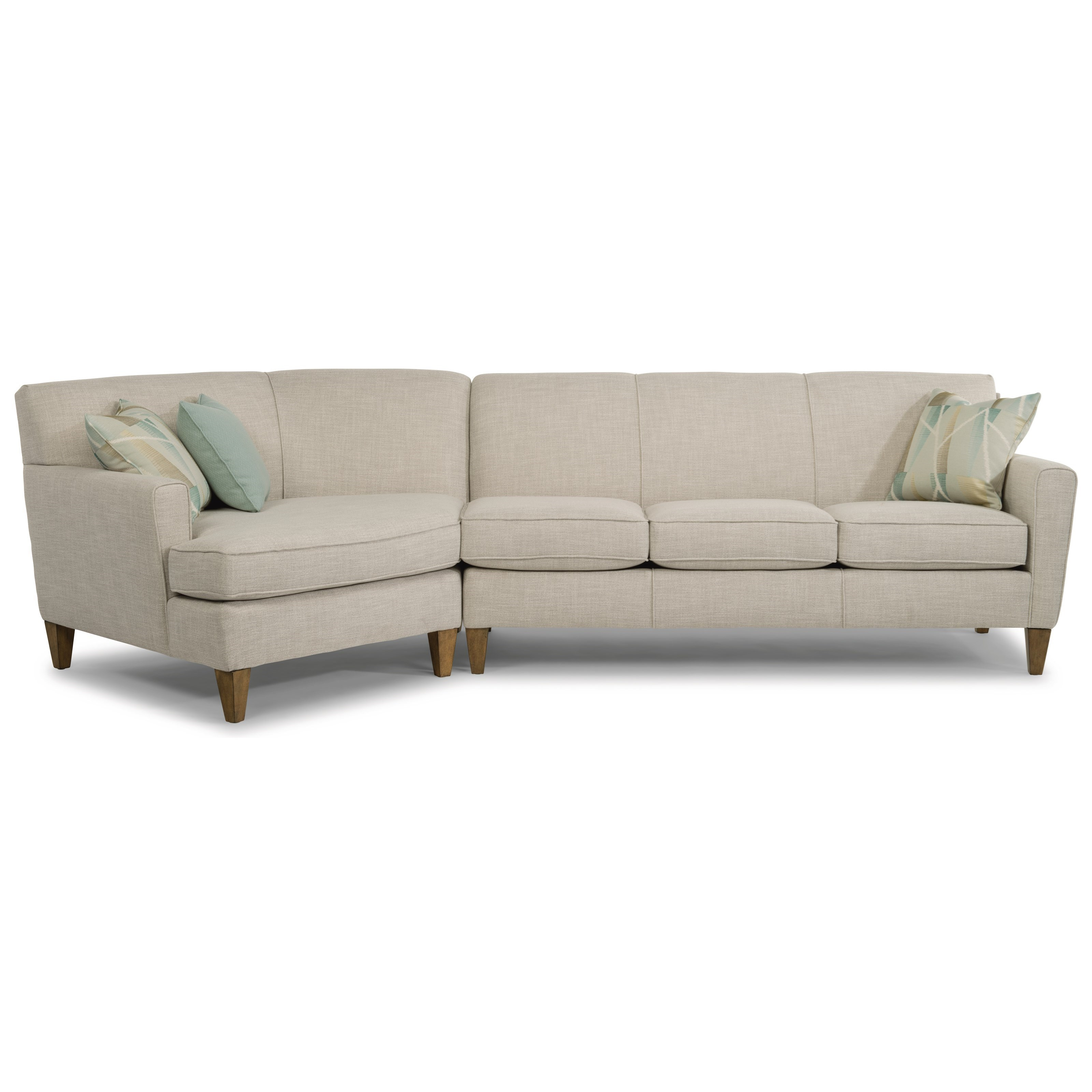 flexsteel digby 2 piece sectional with
