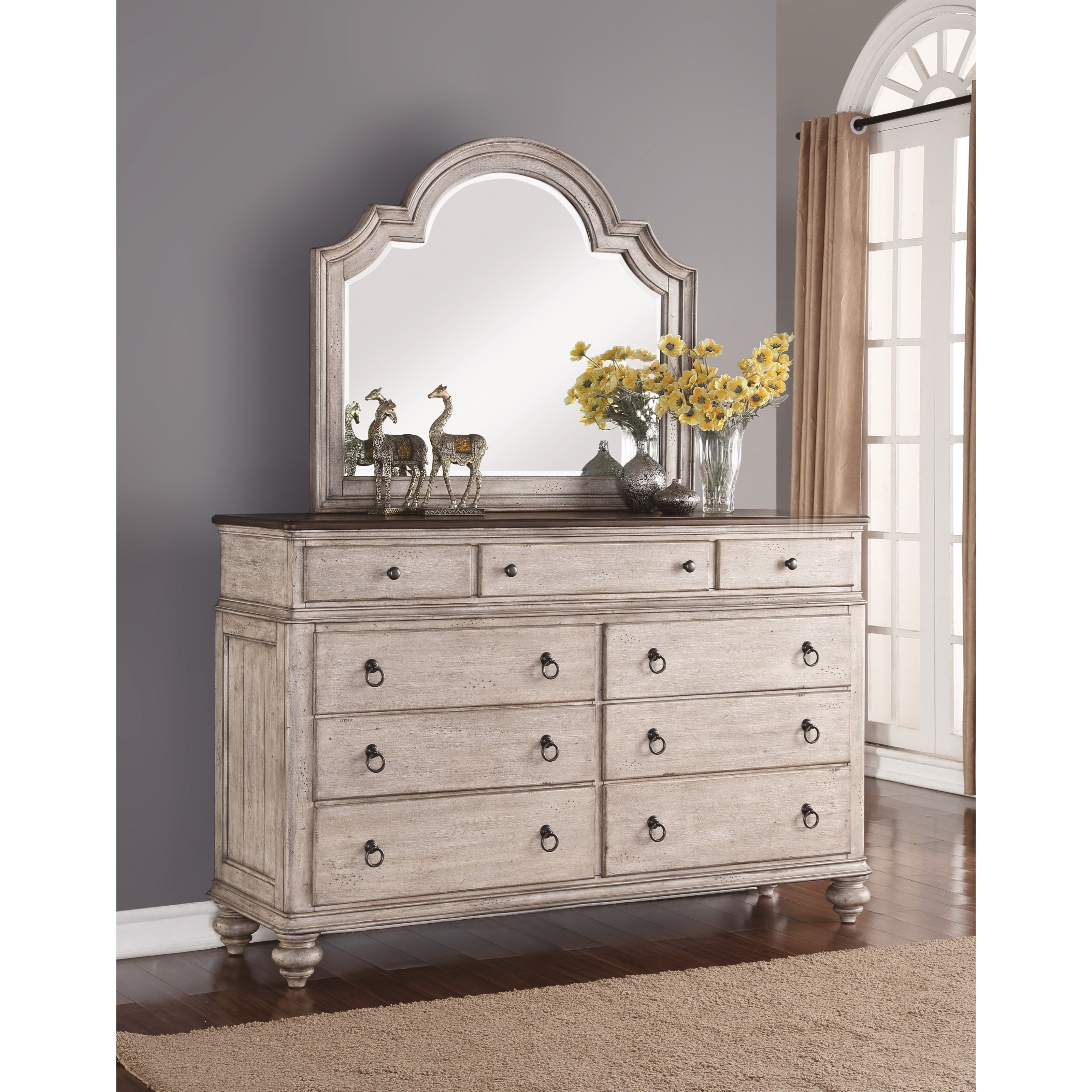 plymouth dresser and mirror combo