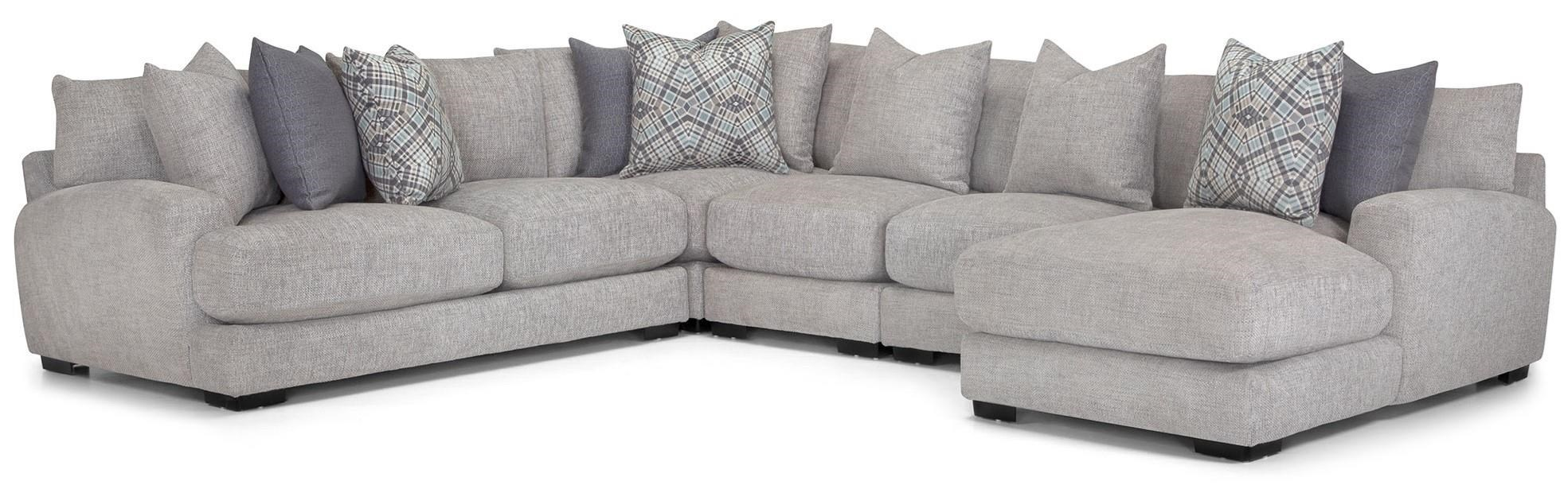 903 5 pc sectional grey