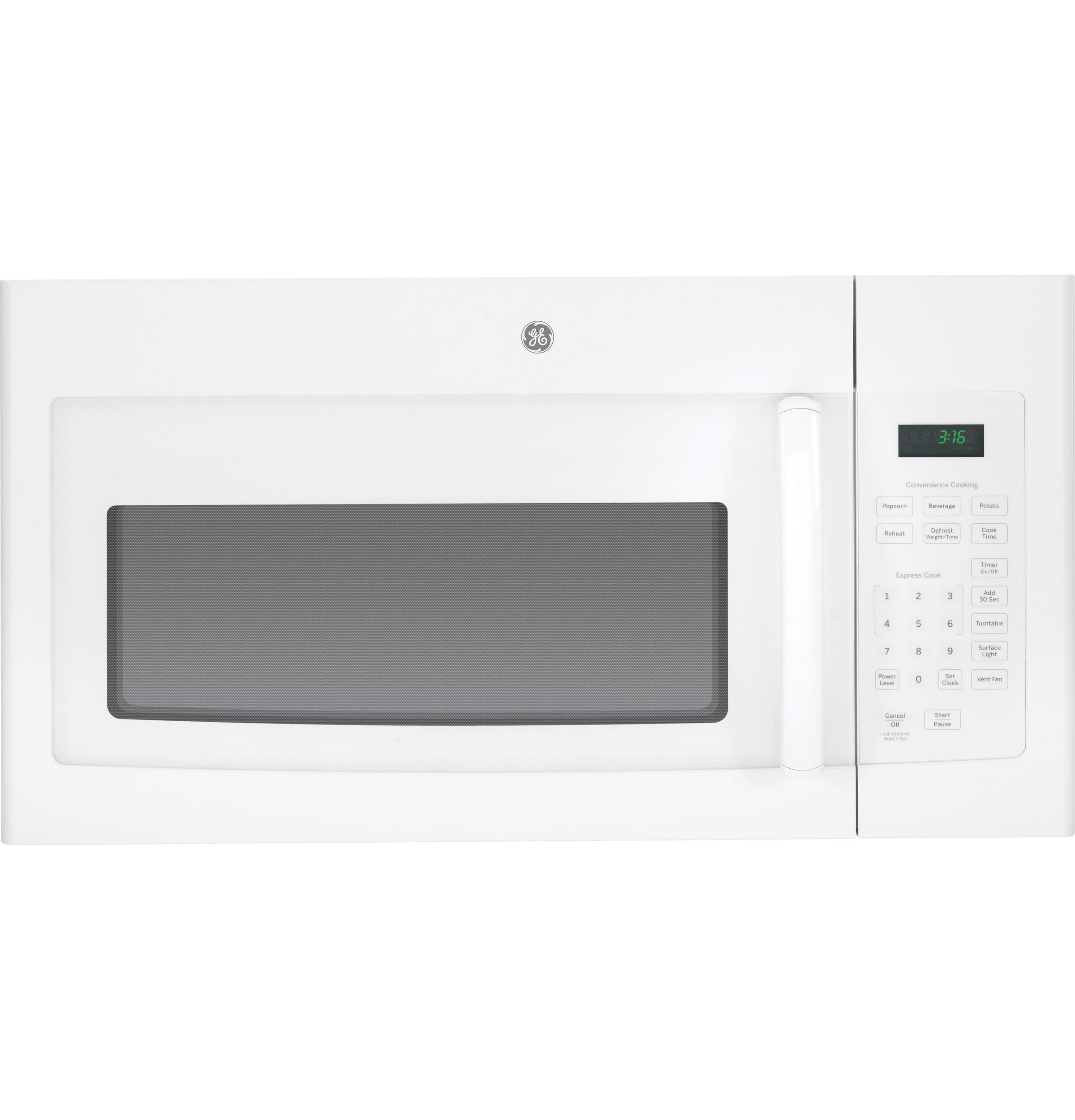 microwaves 1 6 cu ft over the range microwave oven with convenience cooking controls by ge appliances at vandrie home furnishings