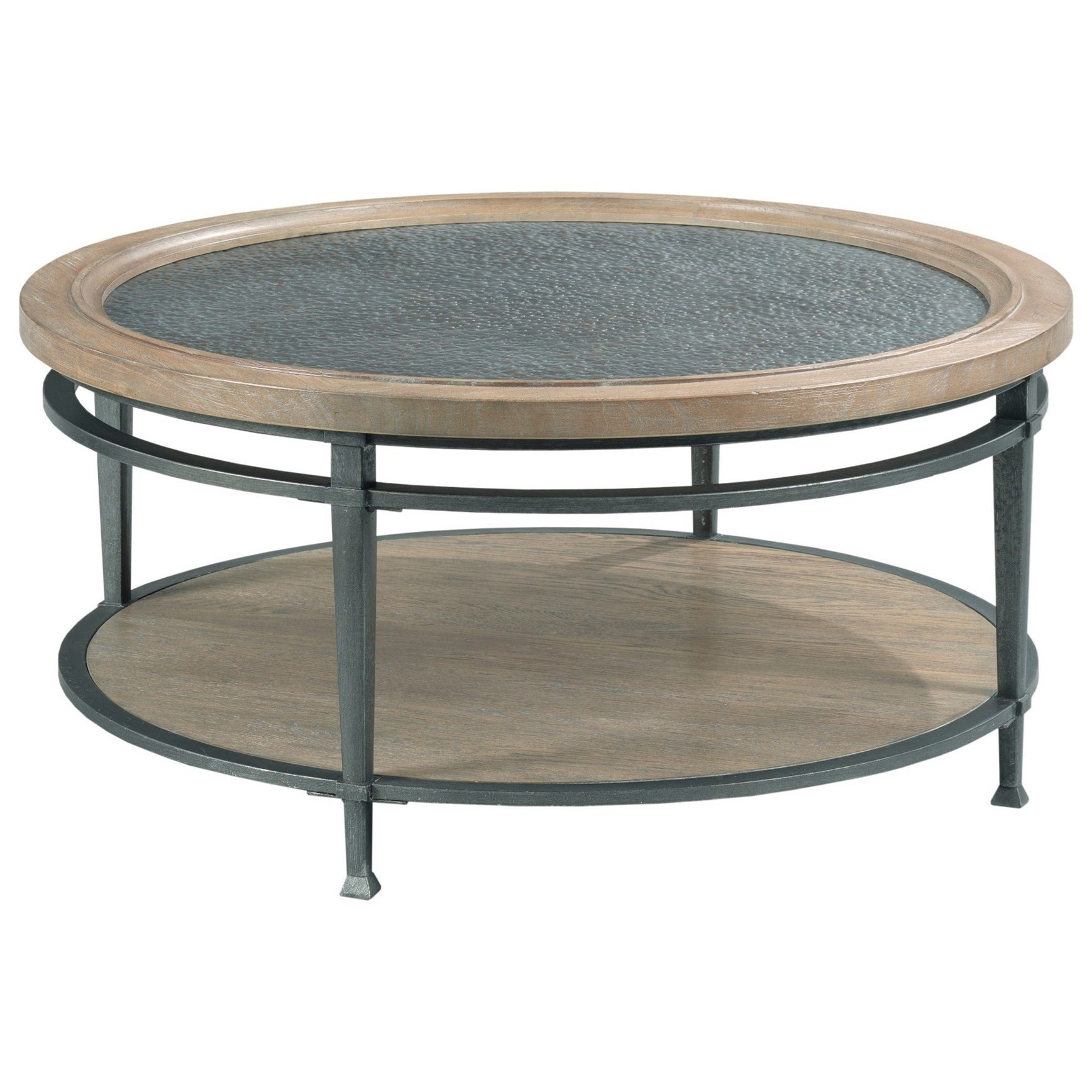 austin transitional round coffee table