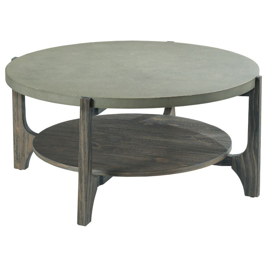 delray round coffee table