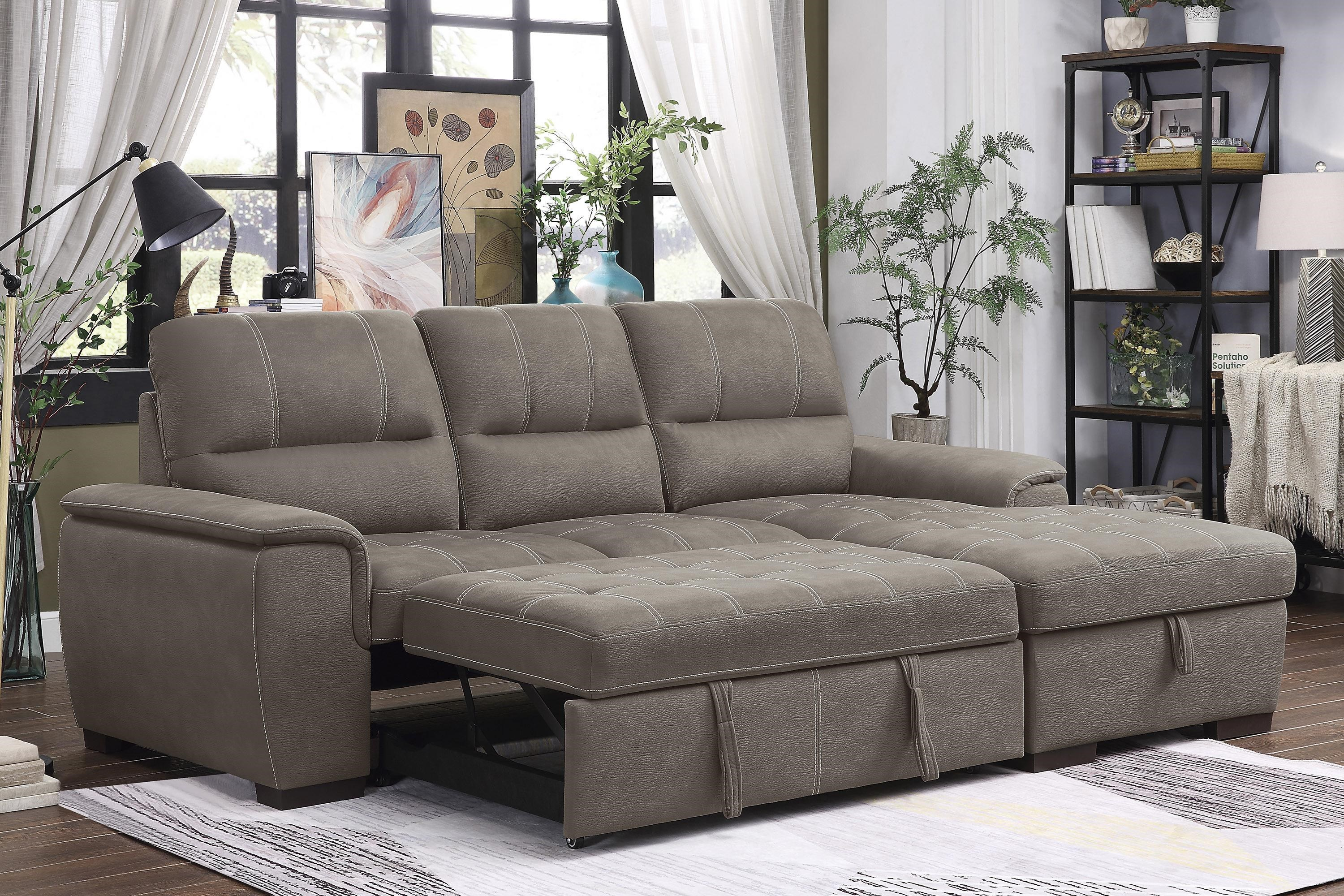 andes contemporary sectional with right chaise by homelegance at beck s furniture