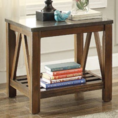 Homelegance Ashby 3552 04 Mission End Table With Bluestone