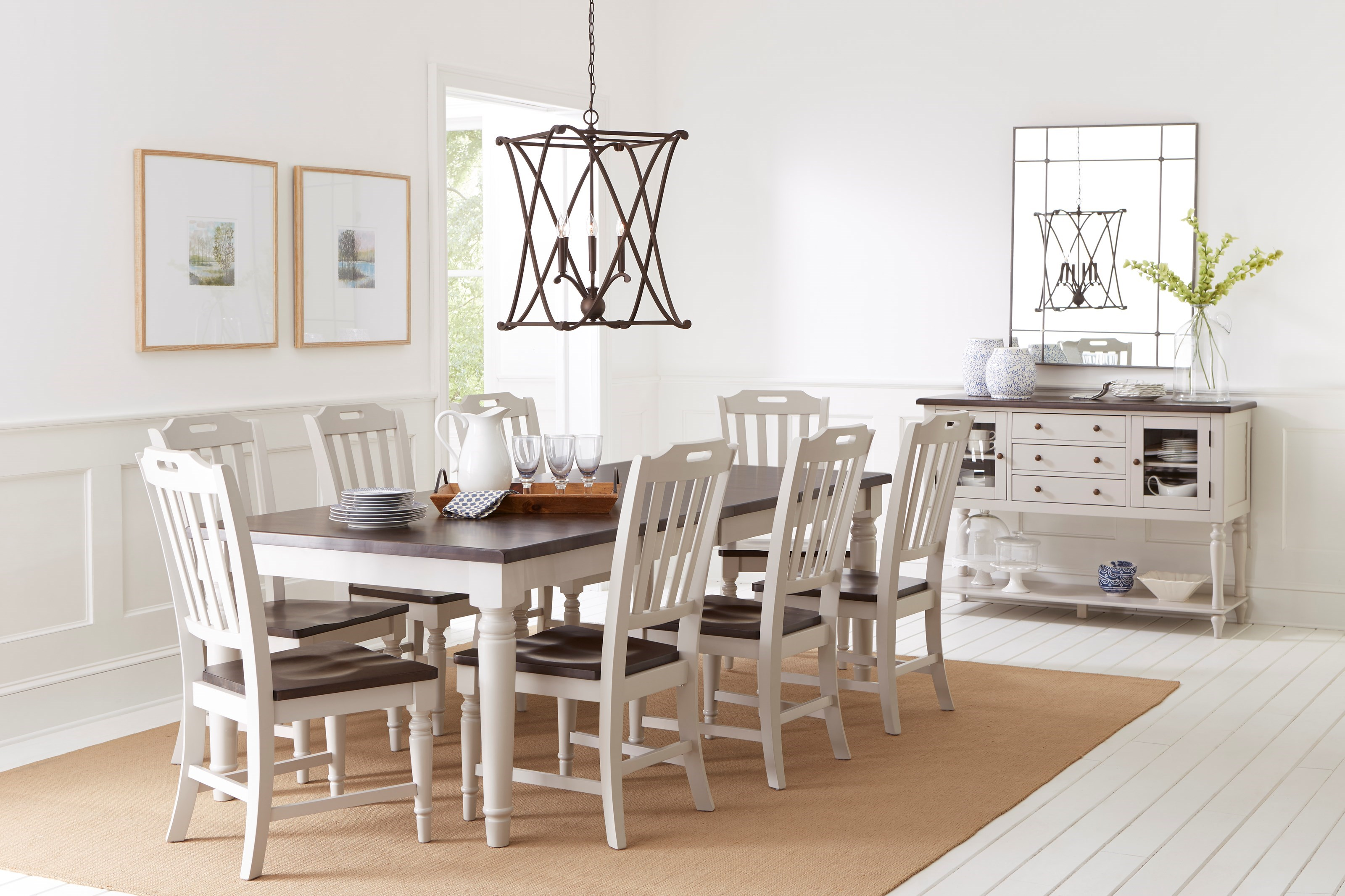 Jofran Orchard Park Dining Table With 8 Chairs Godby Home Furnishings Dining 7 Or More Piece Sets