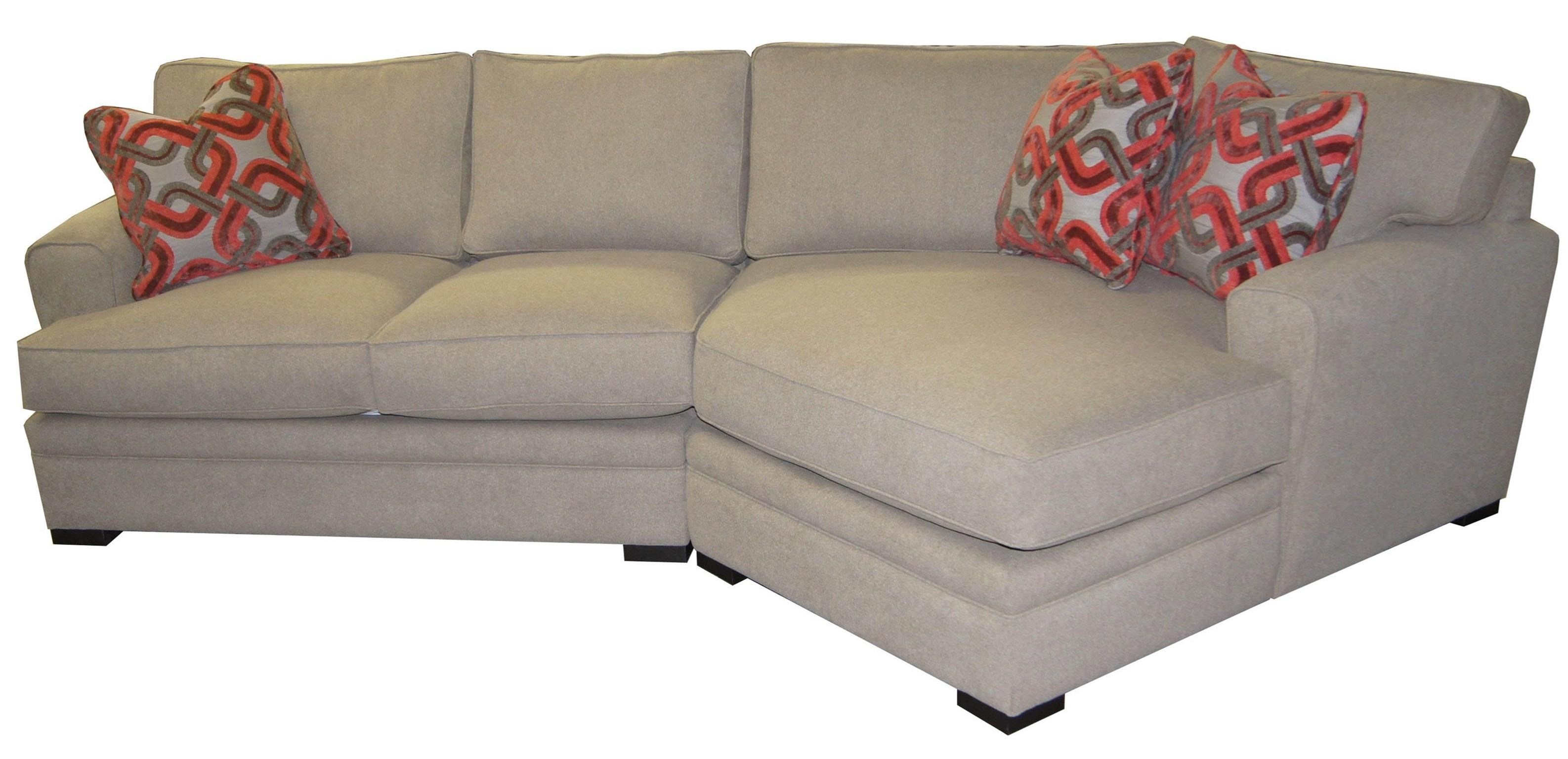aries casual 2 piece cuddler sectional