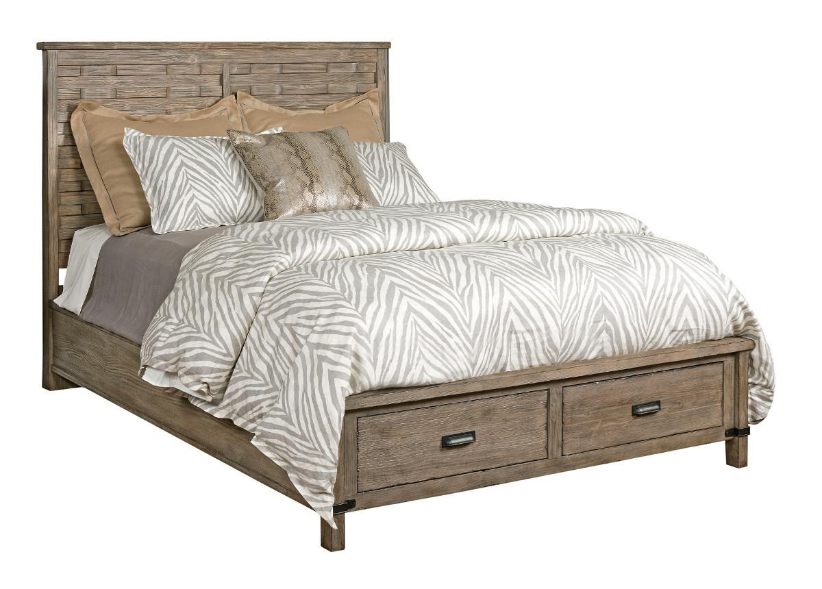foundry queen panel bed with storage footboard