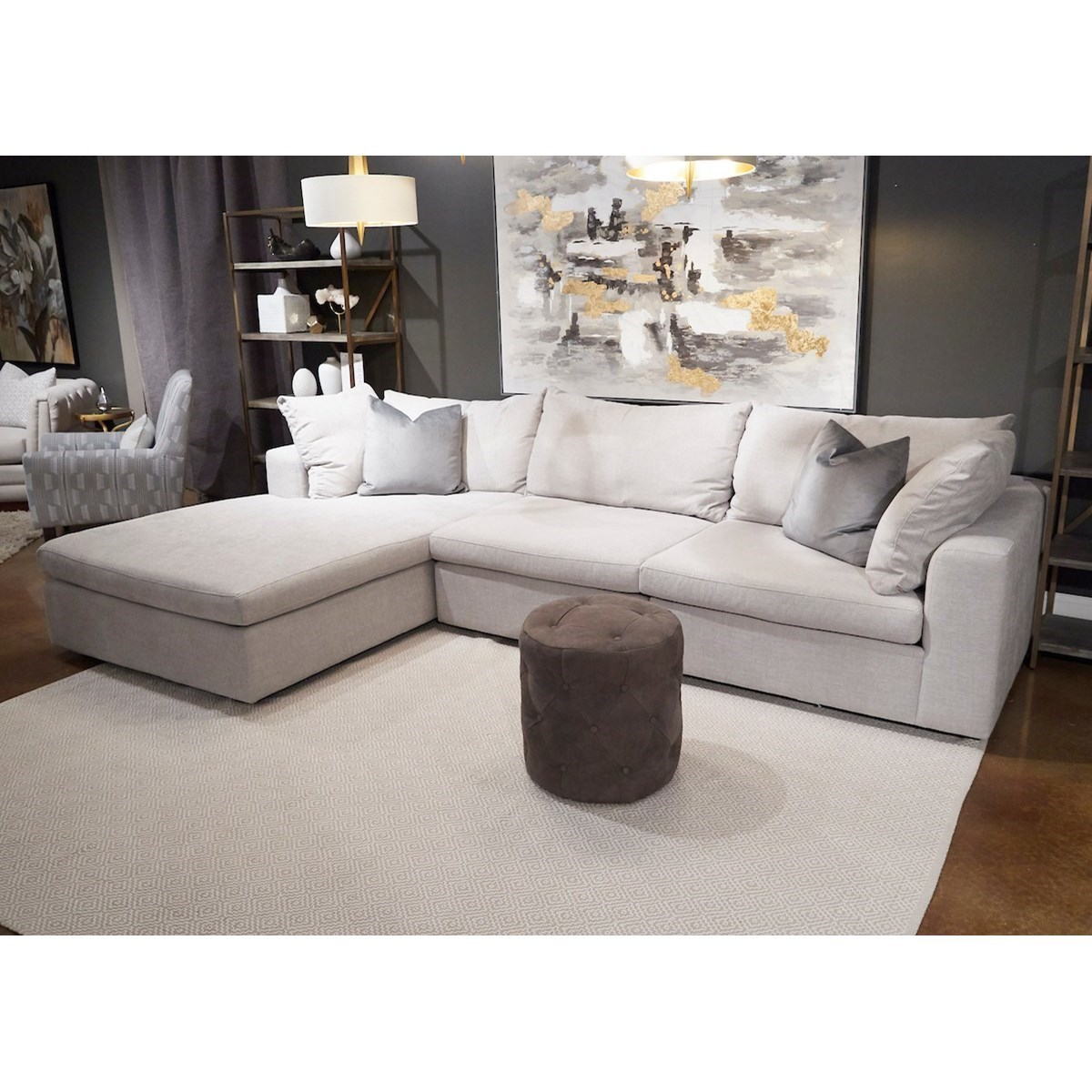 casual 3 seat sectional sofa