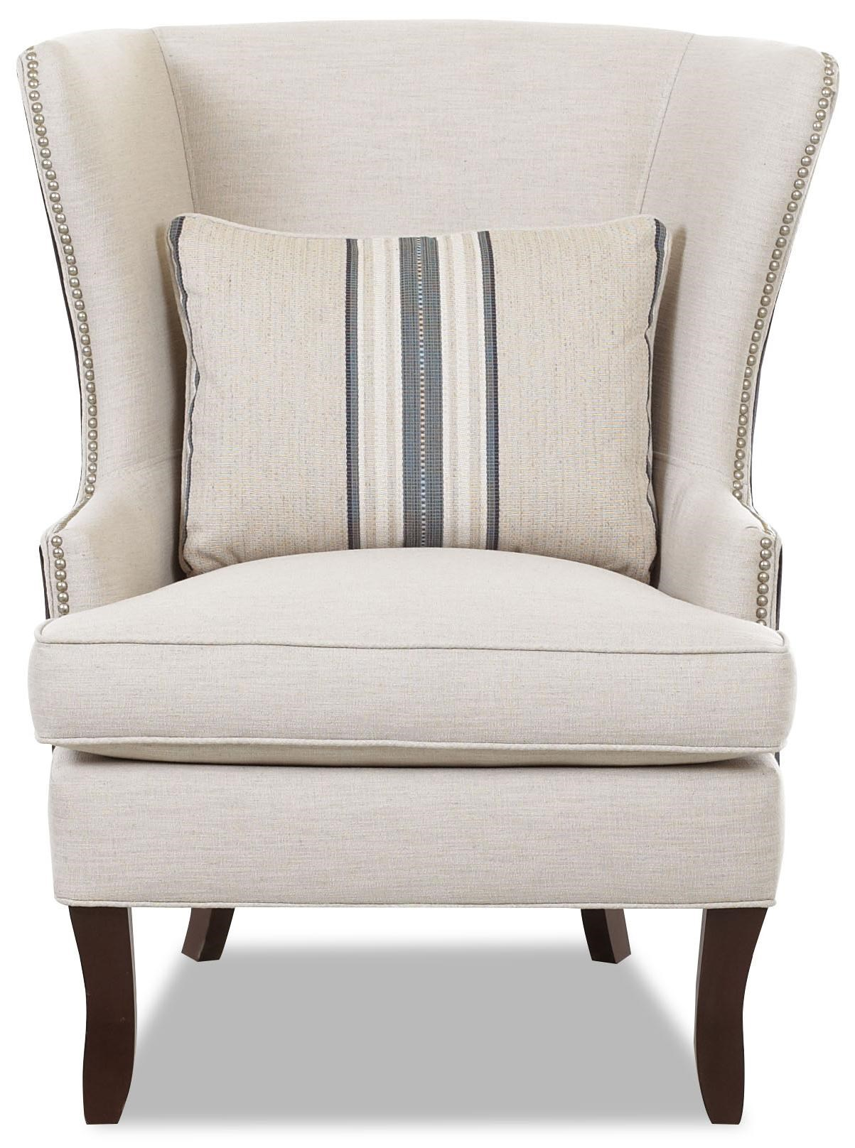 Coral Colored Accent Chair