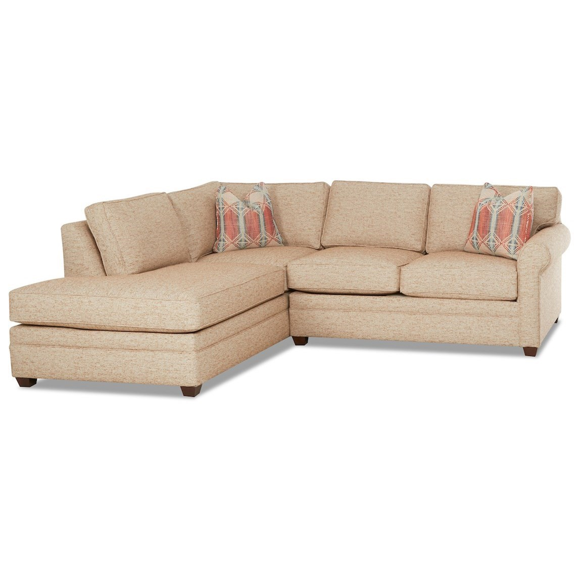 casual 2 piece sectional sofa