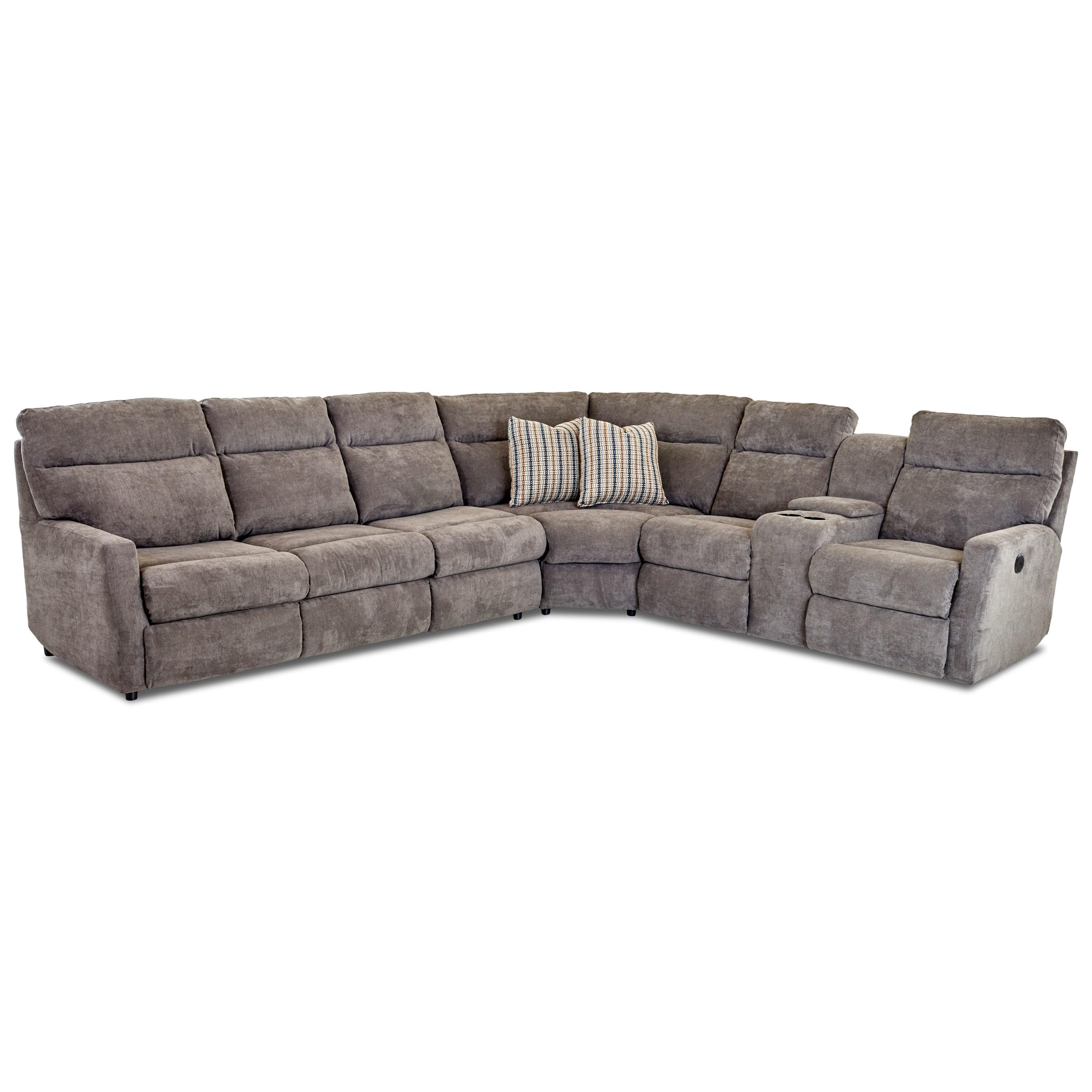 daphne 5 seat reclining sectional w laf sleeper