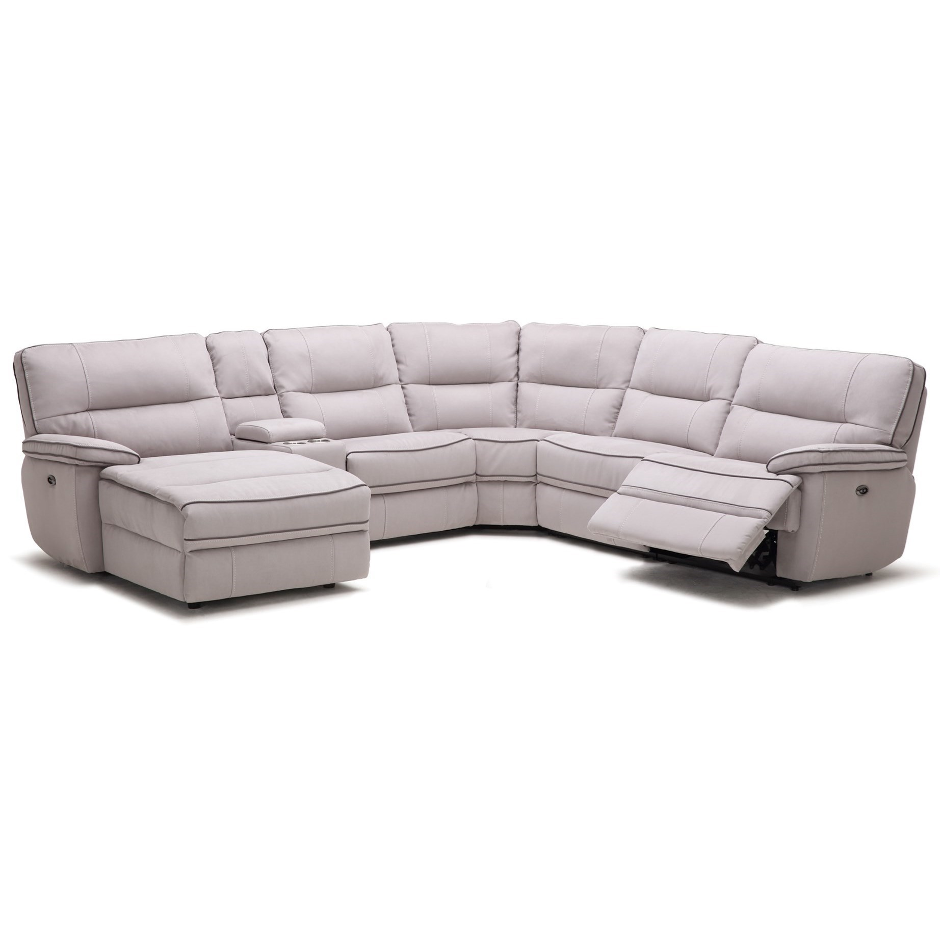 km019 6 pc reclining sectional sofa