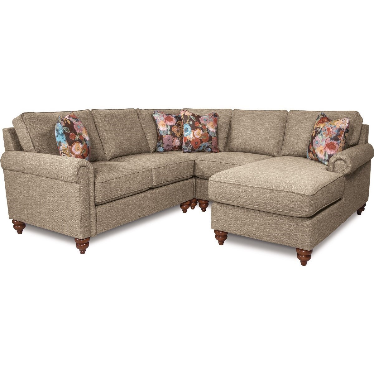 leighton traditional four piece sectional sofa with left arm sitting chaise by la z boy