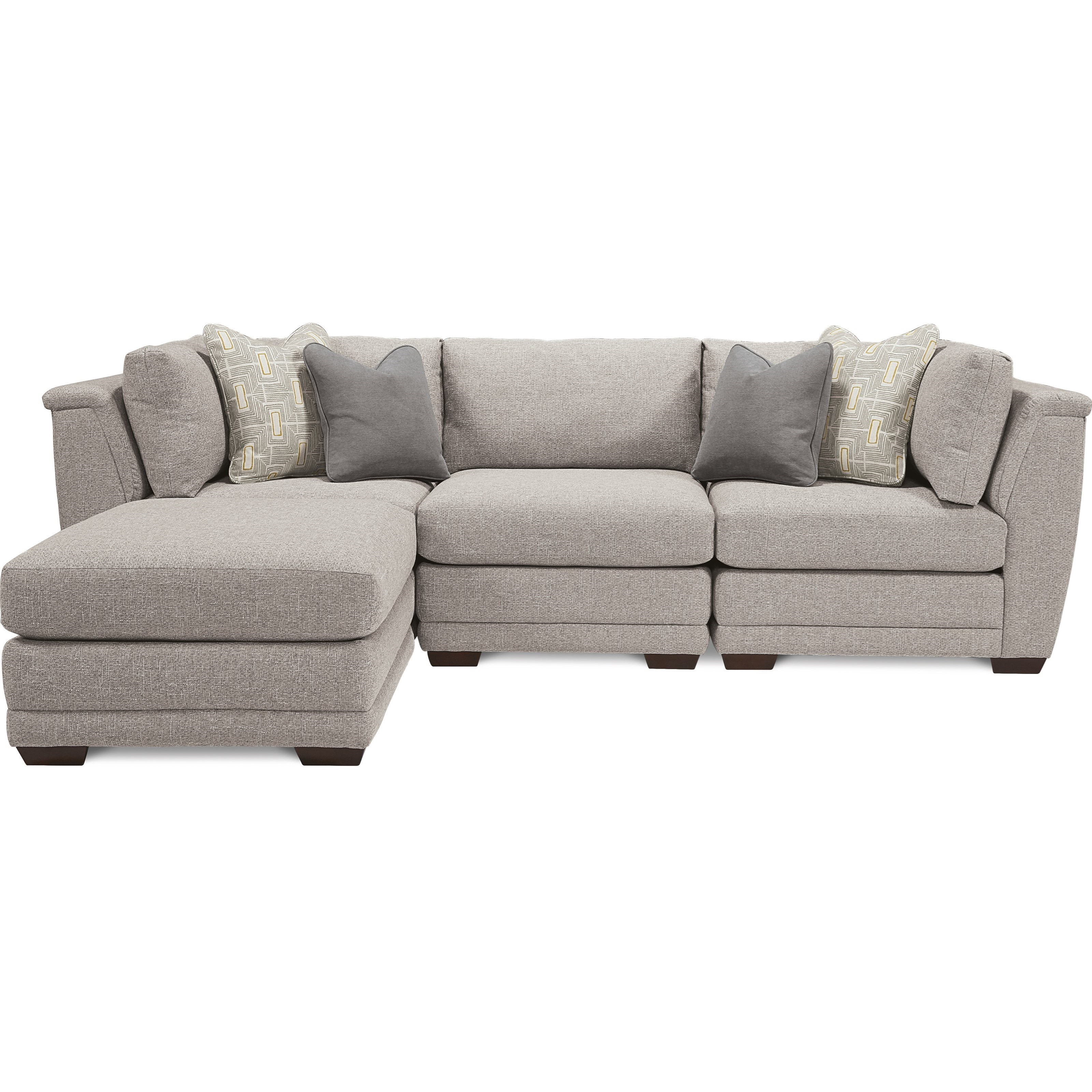 ridgemont 4 piece sectional with ottoman chaise by la z boy