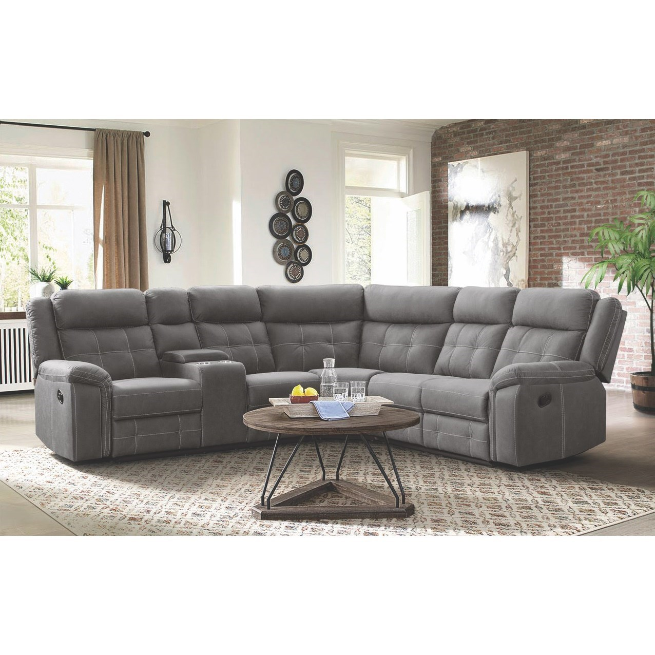 59933 reclining sectional