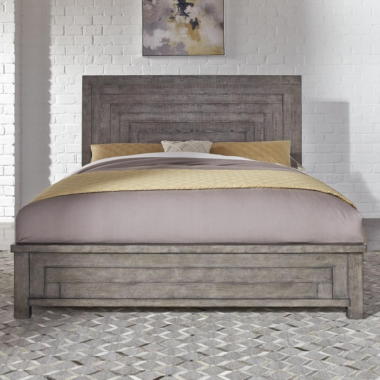 Liberty Furniture Modern Farmhouse Contemporary Queen Low Profile Bed Royal Furniture Platform Beds Low Profile Beds