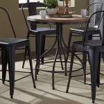 Liberty Furniture Vintage Dining Series 5 Piece Gathering Table And Bow Back Counter Chair Set Royal Furniture Pub Table And Stool Sets