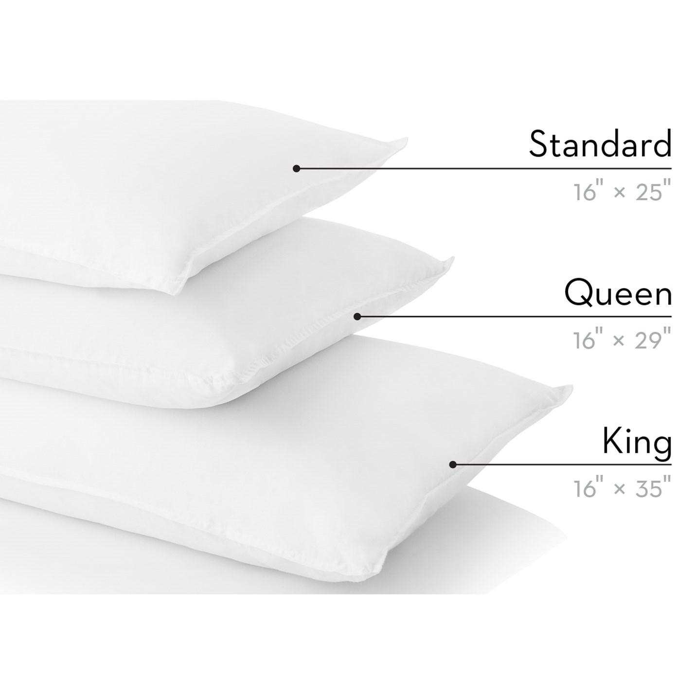 shredded latex and gelled microbifer queen shredded latex gel microfiber pillow