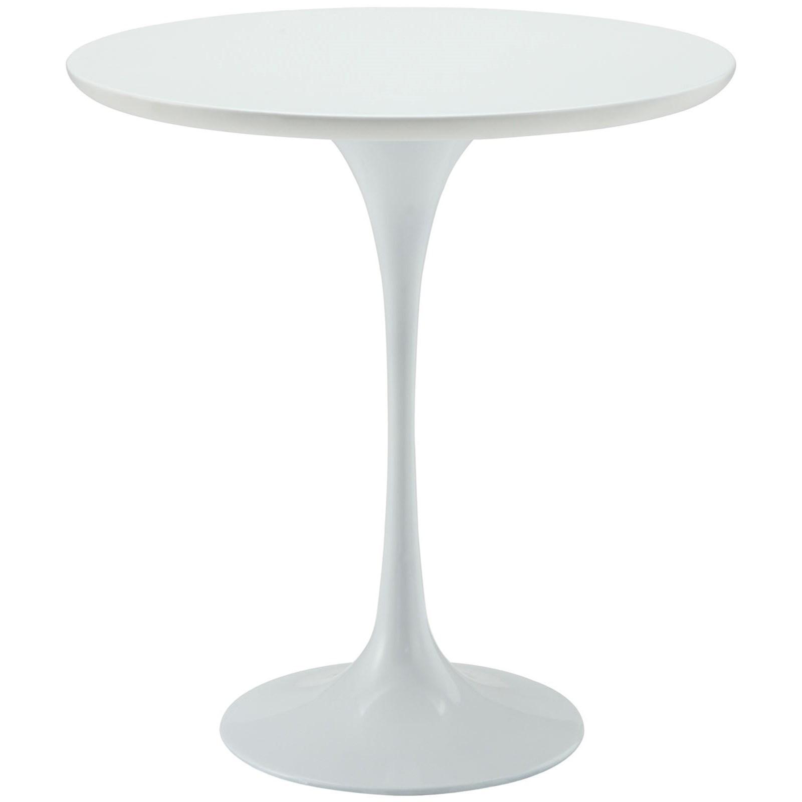 lippa white round side table