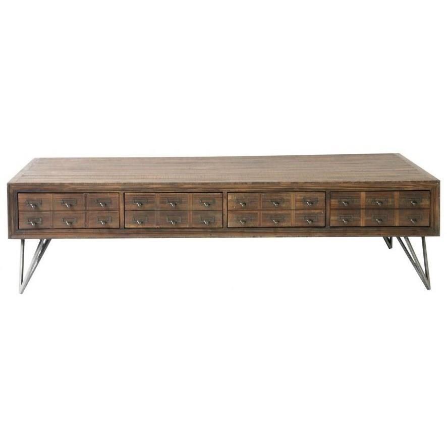reclaimed wood rectangular coffee table