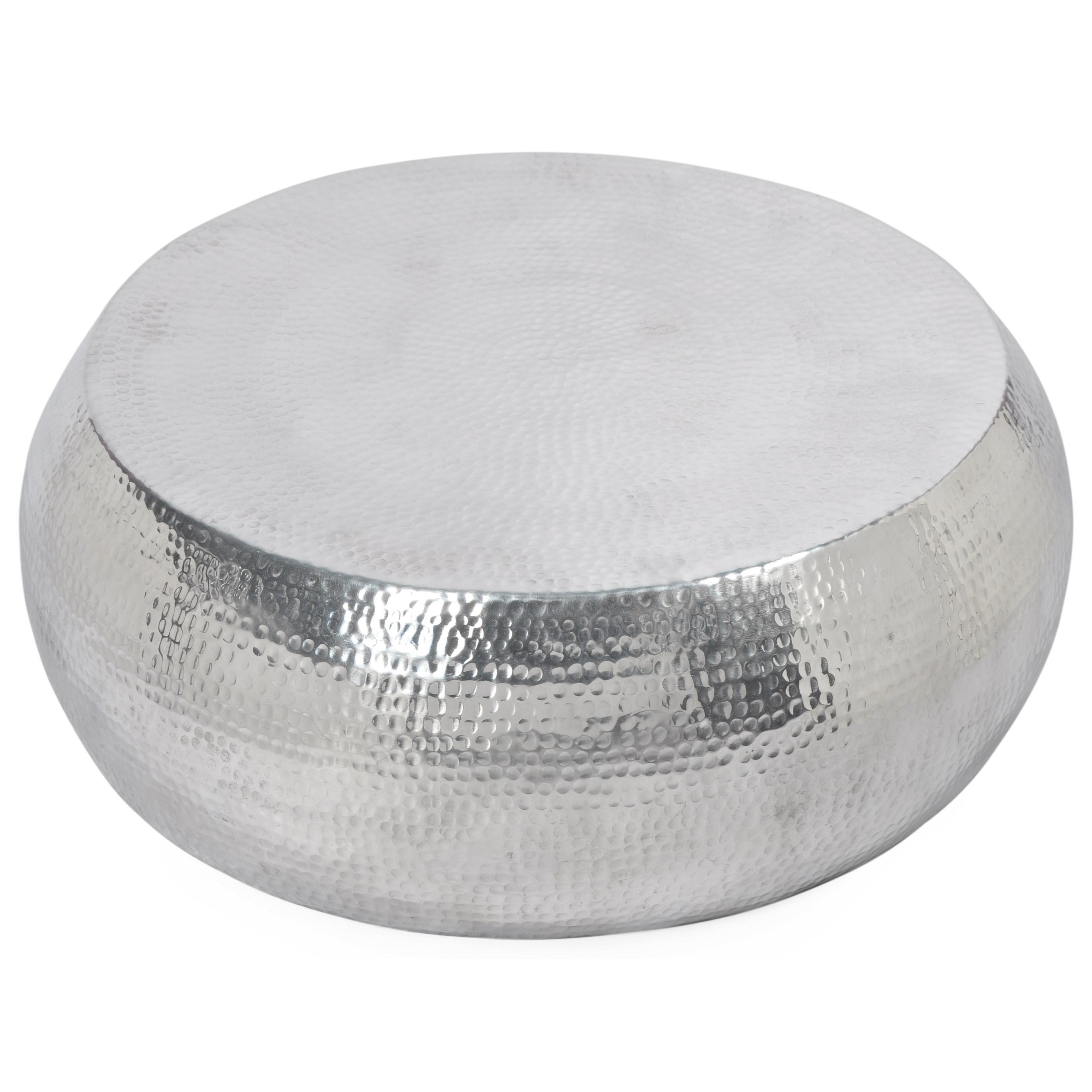 round aluminum coffee table