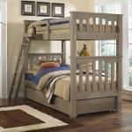Ne Kids Highlands Mission Style Twin Over Twin Harper Bunk Bed With Hanging Tray And Under Bed Trundle Wayside Furniture Bunk Beds