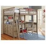 Ne Kids Highlands Mission Style Full Bed With Desk Wayside Furniture Loft Beds