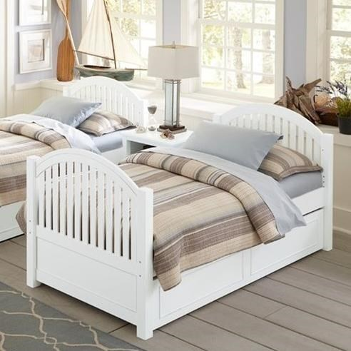 Ne Kids Lake House Twin Bed With Arched Headboard And Footboard And Trundle Wayside Furniture Panel Beds