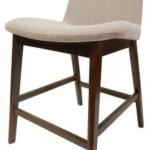 Happy Chair Dennis Dennis Kd Fabric Counter Stool Walnut Legs Yale Cream Reeds Furniture Bar Stools