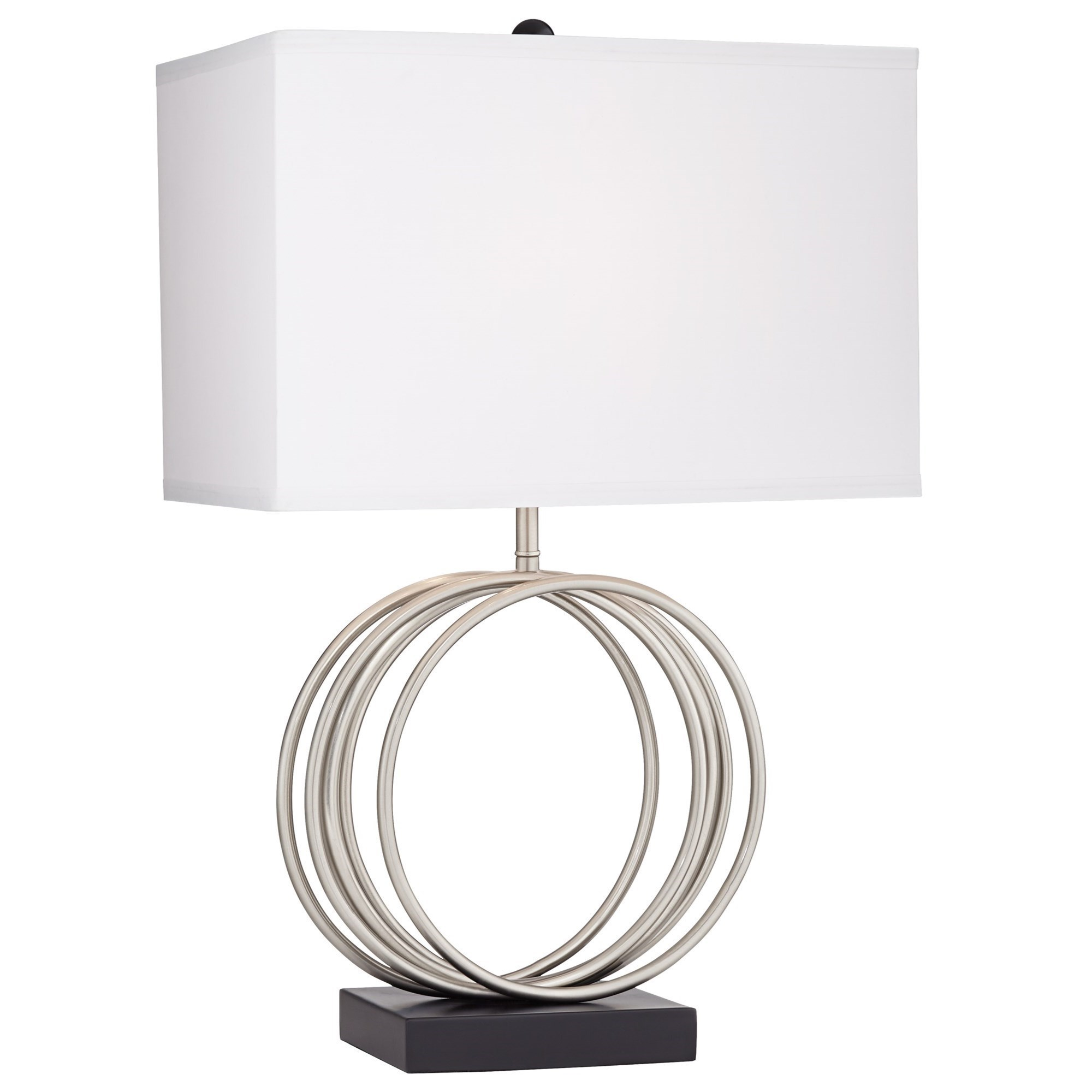 Pacific Coast Lighting Table Lamps Contemporary Beckett Table Lamp With Brushed Nickel Rings Wayside Furniture Table Lamps