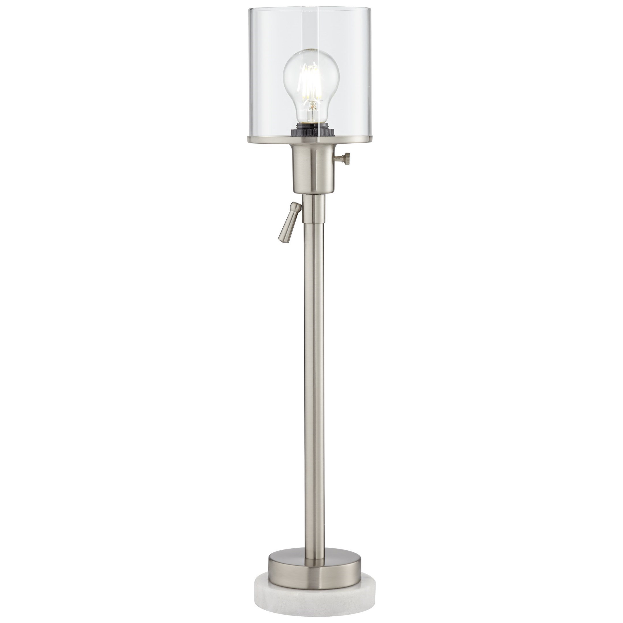 Pacific Coast Lighting Table Lamps Contemporary Paradiso Table Lamp In Brushed Nickel Wayside Furniture Table Lamps