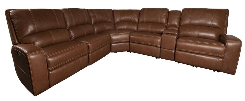 alta alta leather match power sectional