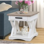Parker House Americana Modern Farmhouse Style 1 Drawer End Table Wayside Furniture End Tables